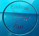 Sunshineplot Aufkleber Einhorn Pippi 11cm Limited Edition (Schwarz)
