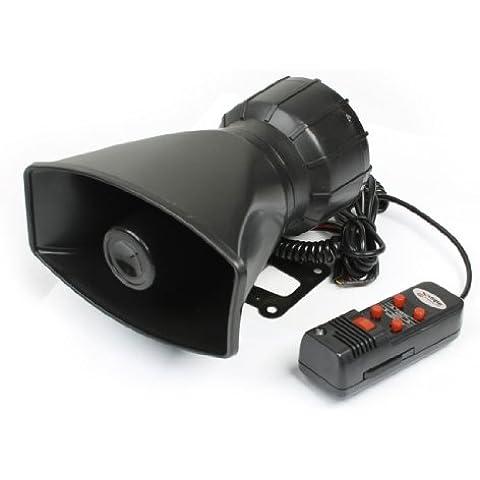 001 DC 12V 5 Tonos Electrónico Sirena Bocina w Micrófono para los coches