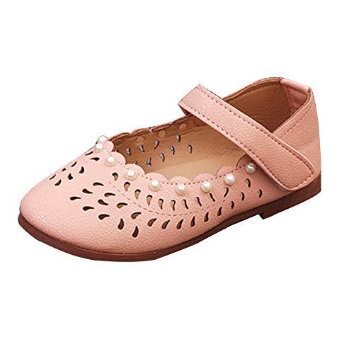 (Wenchuang Kleinkind Mädchen Ballerinas Schuhe Kunstleder Schuhe Rosa)