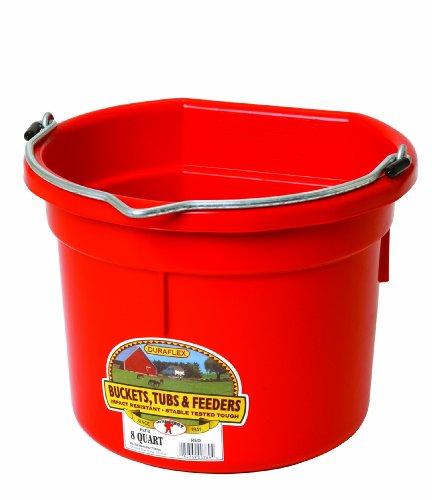 Miller Flatback Kunststoff-Eimer Red 8 Quart - P8FBREDA -