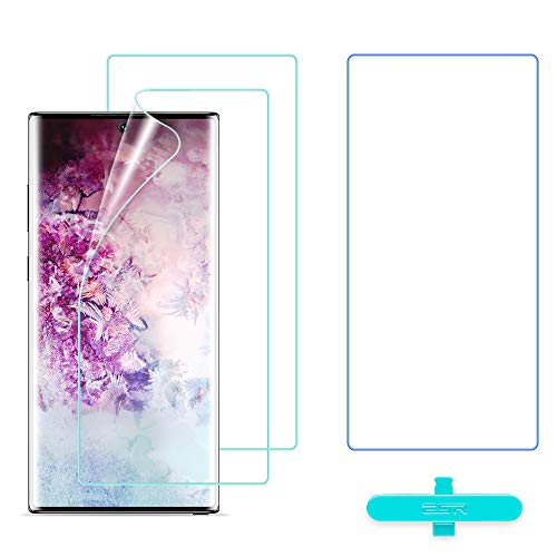 ESR Film Protection Ecran en TPU Souple pour Samsung Galaxy Note 10 Plus (2019), (2 Pièces +1 Offert), Haute Sensibilité...