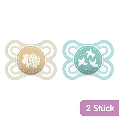 MAM Babyartikel 99953200 - Perfect, Ciuccio in silicone 0-6 mesi, privo di BPA, confezione doppia, unisex