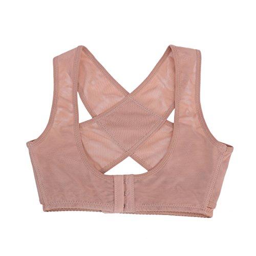 ROSENICE Geradehalter zur Haltungskorrektur Rückenbandage für Haltung Brust BH Unterstützung - Größe M (Hautfarbe) -