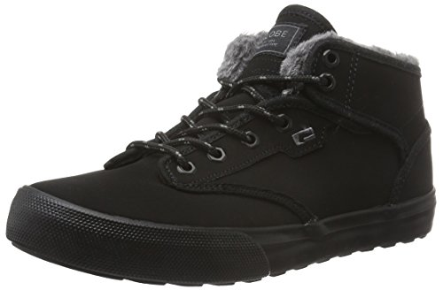 Globe Motley Mid, Herren High-Top, Schwarz (Black/Black fur), 42 EU (8 UK) (High Jungen Urban Top)