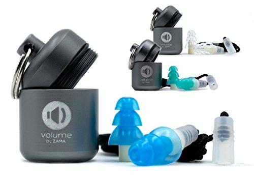 Ohrstöpsel | Gehörschutz-stöpsel (noise) mit Aufbewahrungsbehälter und Kordel | 26 dB | wiederverwendbar | Ideal zum schlafen, fliegen, arbeiten und Musik hören | Klein bis mittelgroße - Die Für Jagd Bereit