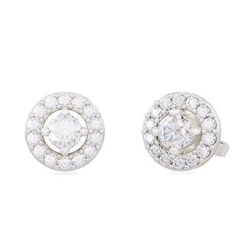 SVEVA diamond earrings in 18kt white gold and palladium for women