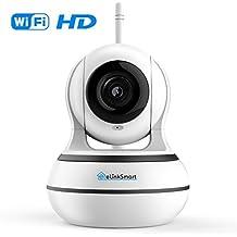 Cámara WiFi Cámara de Seguridad Inalámbrica Pan Tilt Zoom Home Video Monitor eLinkSmart Cámara IP 2-Vias Audio Grabación de Vídeo 960P HD de Visión Nocturna de Detección de Movimiento