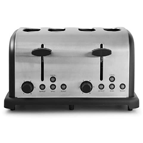 Grille Pain Professionnel - Klarstein Grille pain inox - Toaster multifonction