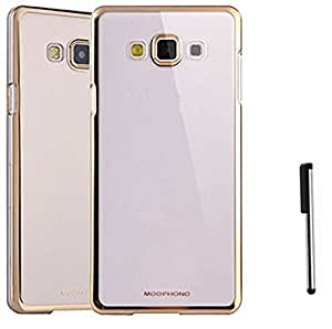 Tidel Golden border Soft Flexible TPU Back Cover for Samsung Galaxy J7 - Gold With Stylus