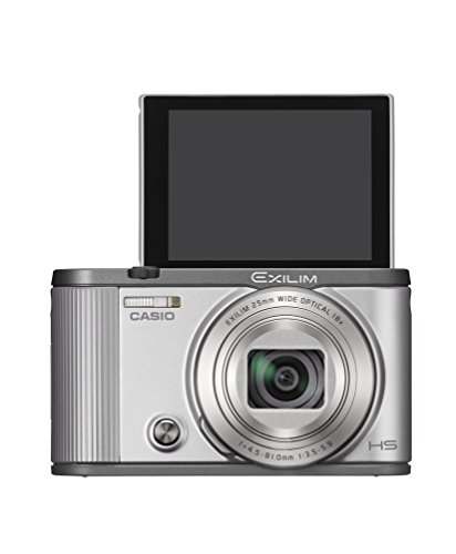 CASIO digital camera EXILIM EX-ZR1700SR self-portrait tilt LCD auto transfer function Wi-Fi / Bluetooth equipped with Silver