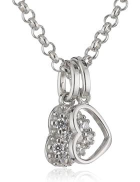 Esprit Kinder und Jugendliche Halskette 925 Sterling Silber rhodiniert Zirkonia ESNL92898A340