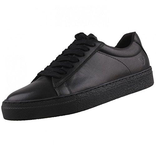 TAMARIS Damen Plateau Sneakers Weiß Schwarz (Black 001)