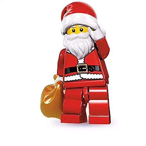 Hilai 1pc Weihnachts-Santa-Sammlung Mini-Puppen Ziegel Bausteine Gebäude Blöcke Kinderfiguren Spielzeug Geschenke