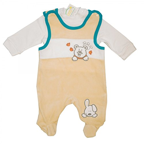 Staboos Baby Nicki Strampler 2 teilig mit Shirt (Langarmshirt) Mädchen, Jungen, Unisex | Beige | Größe 50/56