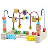 Pink Papaya Motorik Schleife, Kinder Bead Maze Abakus Spielzeug für Jungen und Mädchen ab 12 Monaten
