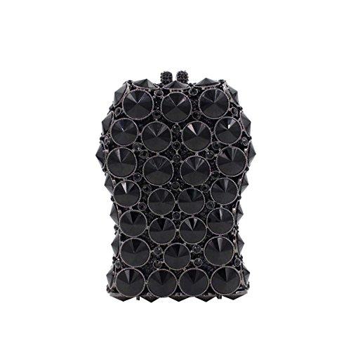 Frauen-Design Luxus Luxus Diamant Abendtasche Kristall Griff Tasche Black