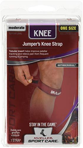 Mueller Kniegurt / Jumper's Knee Strap, Einheitsgrösse, rot - Patella Tendonitis Gurt