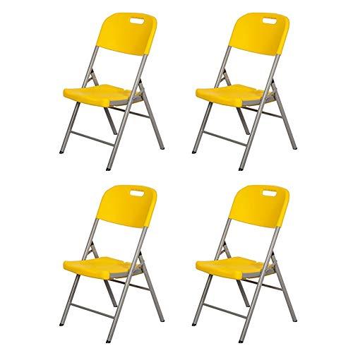 Rezeption Sitzgelegenheiten (LBYMYB Klappstuhl bequemer tragbarer Konferenzstuhl Büro Rezeption Schreibtischstuhl 90X46X46 cm 4-teiliges Set Stuhl (Color : Yellow))