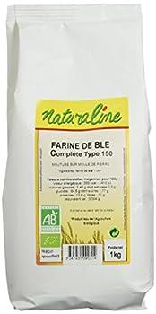 Moulin des Moines Farine de Blé Complète Extraction 95% Type 150 Mouture Fine Bio 1 kg - Lot de 5