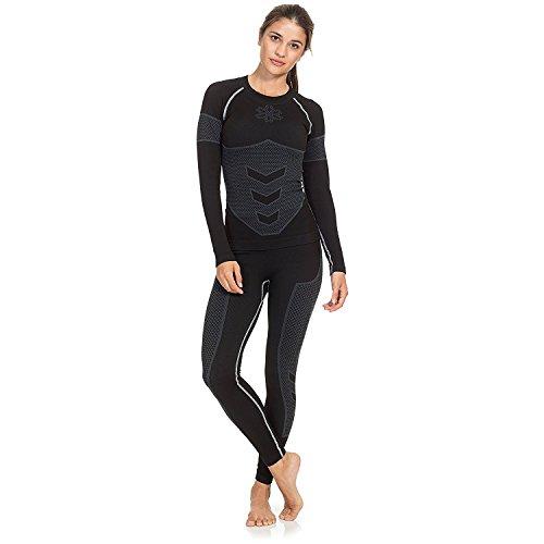 41UVBq3SEEL. SS500  - Gregster Women's Winter Ski & Snowboard Base Layer/Baselayer Long Sleeve Thermal Underwear – Seamless