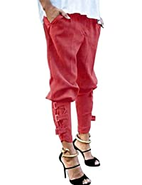 Banbian Damen Hose Elegant High Waist Haremshosen Skinny Hosen Pants Casual  Streetwear Hosen f56b429d14