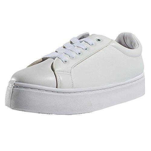 Pieces Donna Scarpe/Sneaker psMonet Bianco