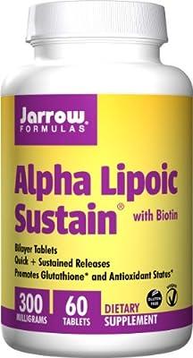 Jarrow Alpha Lipoic Sustain with Biotin (300mg, 60 Vegetarian Tablets)