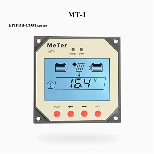 SolaMr Fernanzeige Instrument für Duo-Battery-Solarladeregler mit 10-Meter-Kabel für EPIPDB-COM-Serie (MT-1) -