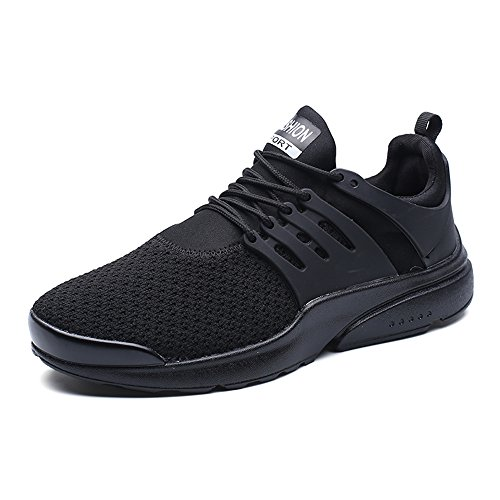 Senbore Men's Running Lightweight Athletic Trainers Lace-Up Gym Casual Sport Shoes
