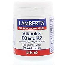 Lamberts Vitamina D3 1000iu y K2 90ug - 60 Cápsulas