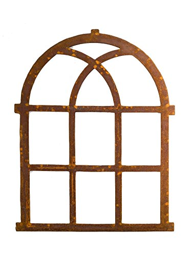 Nostalgie Stallfenster Fenster 72x58cm Eisen Gusseisen antik Stil Rost Rahmen -