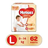 Huggies Ultra Soft Pants Premium Baby L Diapers (62 Pieces)
