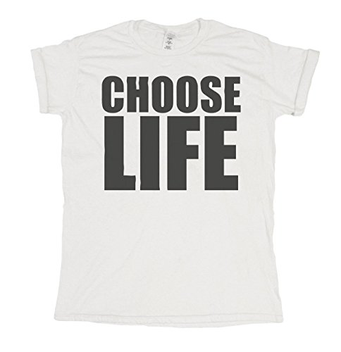 Choose Life Mens & Ladies 1980's Retro Party Fashion Unisex Fit T-Shirt Uomo e Donne Camiseta
