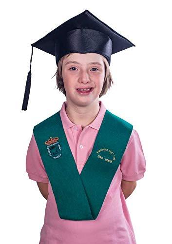 Tiltextil Birrete de graduación infantil y primaria - Negro, Infantil