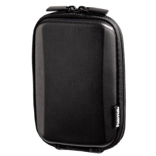 Hama Hardcase Kameratasche für eine schmale Digitalkamera, Hardcase Slim Plain 60F, Schwarz