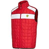 Ferrari rojo acolchado chaleco, Rojo