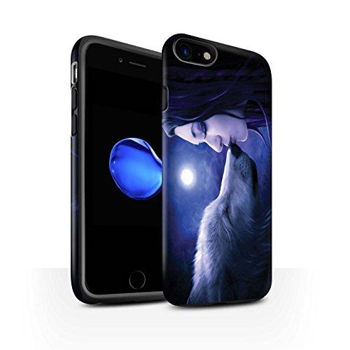 Officiel Elena Dudina Coque / Matte Robuste Antichoc Etui pour Apple iPhone 8 / Reine des Forêts Design / Un avec la Nature Collection Baiser de Lune