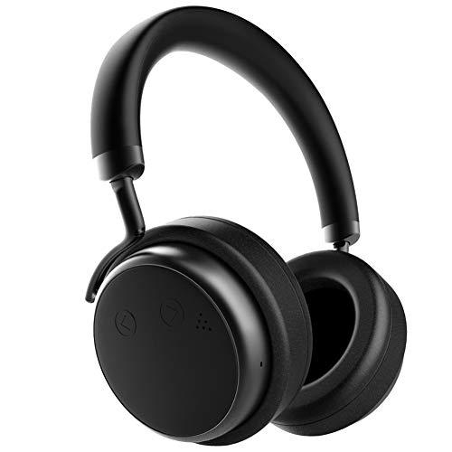 XSOUND H5D Noise Cancelling Kopfhörer 50mm ANC Kopfhörer mit 4.2 Bluetooth, Protein Ohrpolster, 20 Std. Spielzeit für Unterwegs, Arbeit, unterstützt TV PC Mobiltelefon, Schwarz