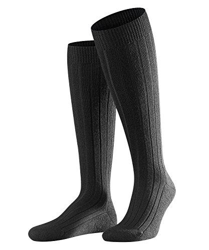 FALKE Herren Kniestrümpfe Teppich im Schuh, Schurwollmischung, 1 Paar, Schwarz (Black 3000), Größe: 43-44