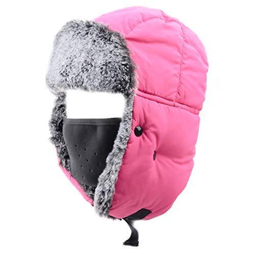 63c1f187b78b7 Azarxis Unisex Winter Trooper Hat Caza Ushanka Sombrero Ruso Cap Ear Flap  Chin Correa con máscara