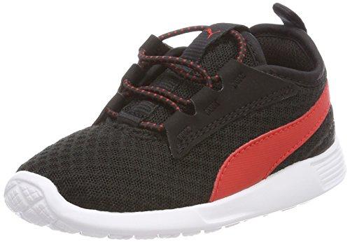 Puma Unisex-Kinder ST Trainer Evo v2 AC Inf Sneaker, Schwarz Black-Flame Scarlet, 27 EU