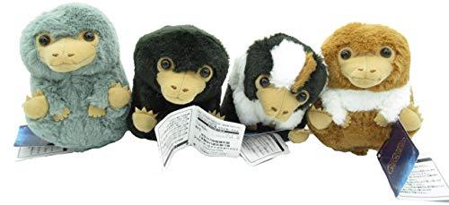 Furyu - set completo 4 peluche mini baby snaso animali fantastici i crimini di grindelwald niffler 12cm originale warner bros