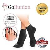 GoBunion Hallux Socken mit integriertem Zehenspreizer | Vorbeugend, schmerzlindernd, wirkt sofort | hoher Tragekomfort, nicht sichtbar | [Die Höhle der Löwen] (1 Paar, 35-38)