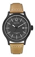Reloj Nautica NCT 150 A12603G de cuarzo para hombre con correa de piel, color marrón de Nautica
