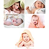Craft Qila KARTMEN Set of 5 Cute Baby Combo Posters | Smiling Baby Poster | Poster for Pregnant Women | HD Baby Wall Poster for Room Decor (12x18-Inches, 300GSM Thick Paper, Gloss Laminated, Multicolour)
