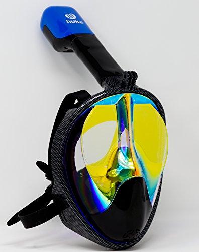 Tauchmaske, Schnorchelmaske, Full Face Schnorchelmaske von huka, 180 Grad Panoramablick, einzigartiges Design, für Kinder und Erwachsene