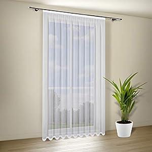 Happy Home Store Milena transparenter Vorhang in Weiß - B/H: 300 x 245 cm