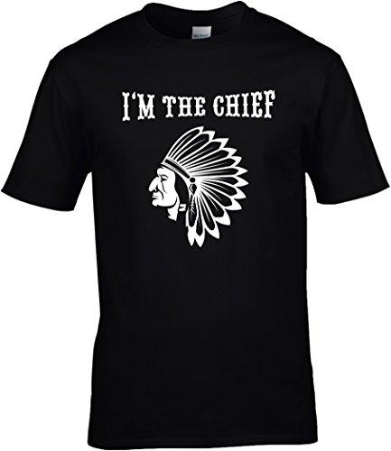Fun Shirt Herren Karneval I'm The Chief Indianer Kostüm Fasching American Native, T-Shirt, Grösse XXL, - Native Kostüm