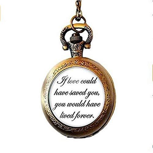 Gedenktaschenuhr Halskette mit Anhänger