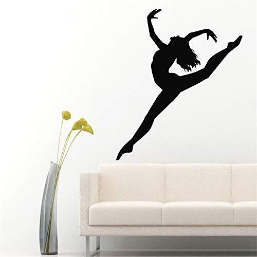ONETOTOP Tänzerin Wandtattoos Mädchen Turner Sport Gymnastik Home Interior Gym Kunst Vinyl Aufkleber Aufkleber Kinder Kindergarten Baby Room Decor76 * 91cm